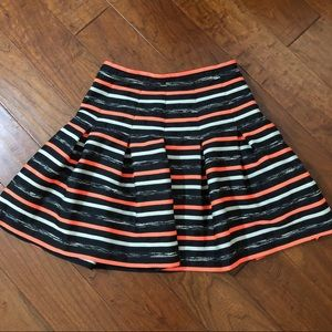 Anthropologie Skirts - Anthropologie | HD in Paris Orange Striped Skirt